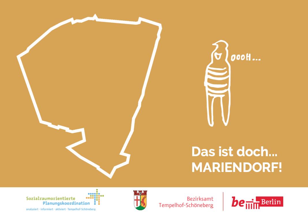 Hier ist das Titelbild des Flyers für die Bürgerbeteiligung in Mariendorf zu sehen.