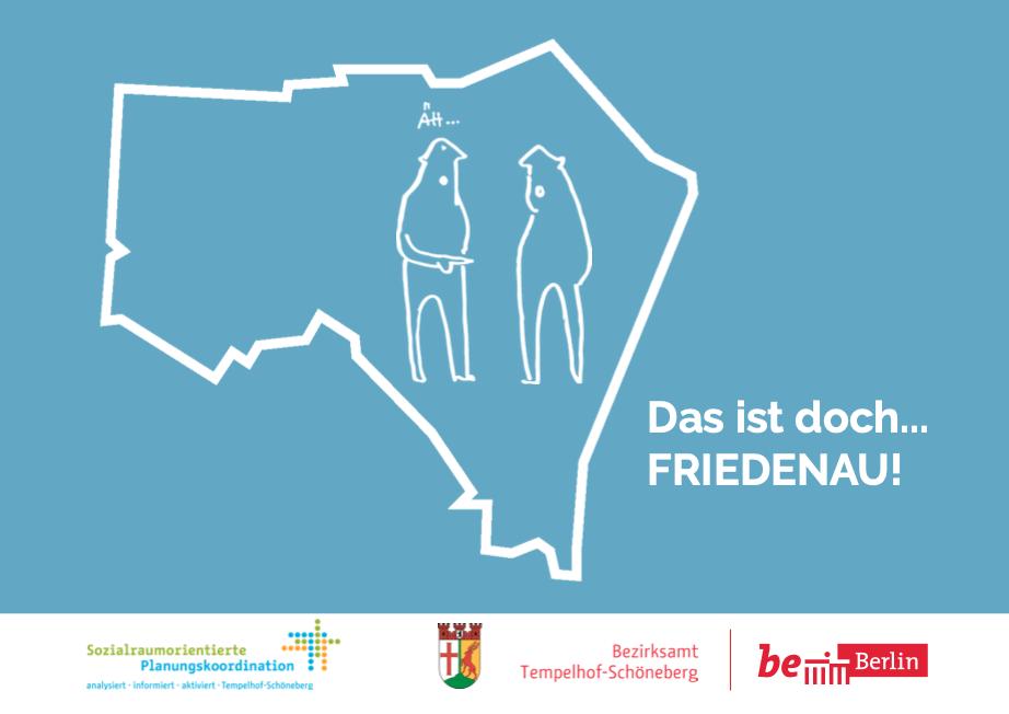 Hier ist das Titelbild des Flyers für die Bürgerbeteiligung in Friedenau zu sehen.