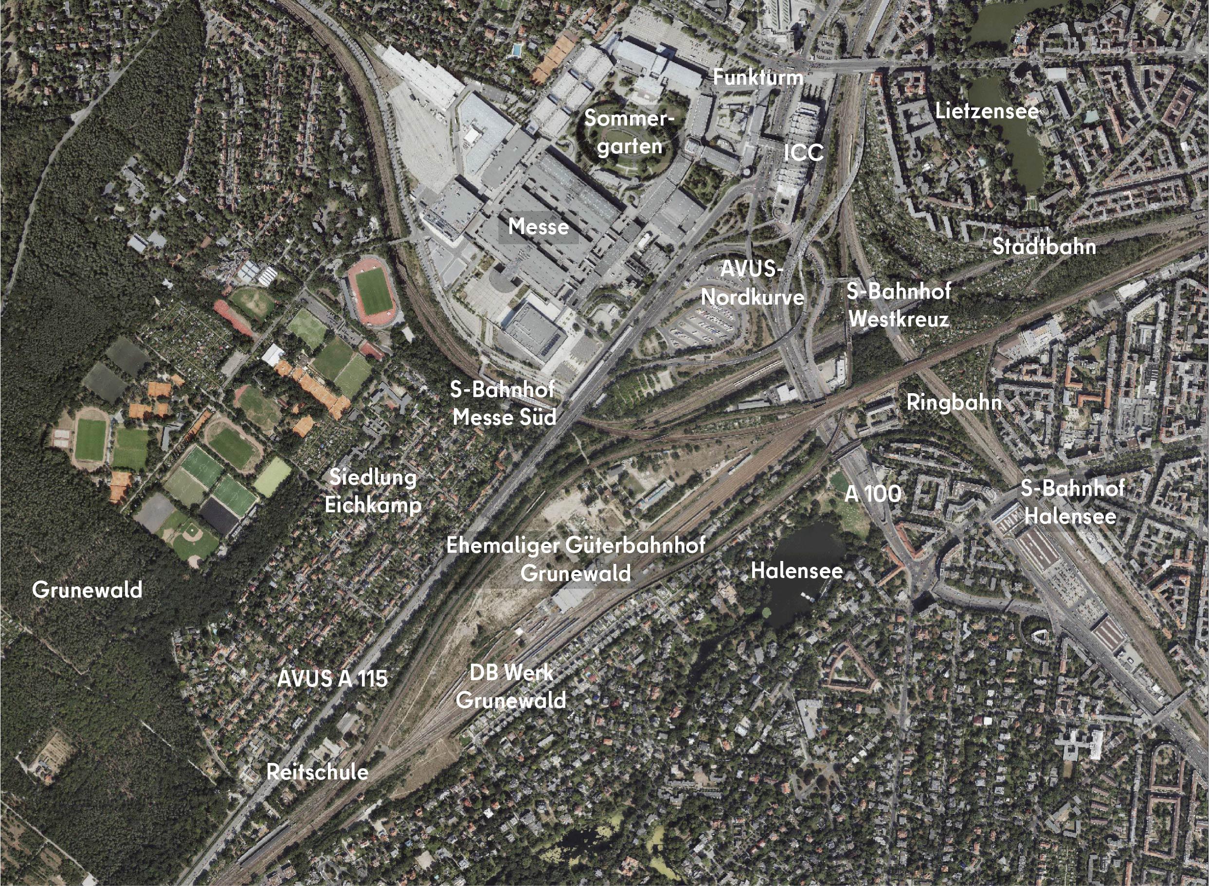"""""""Stadteingang West"""", Projektgebiet zwischen Messegelände, ICC und den S-Bahnhöfen Westkreuz und Grunewald"""